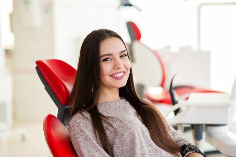 Happy Girl In Dentistry